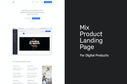 Mix - Product Landing Page