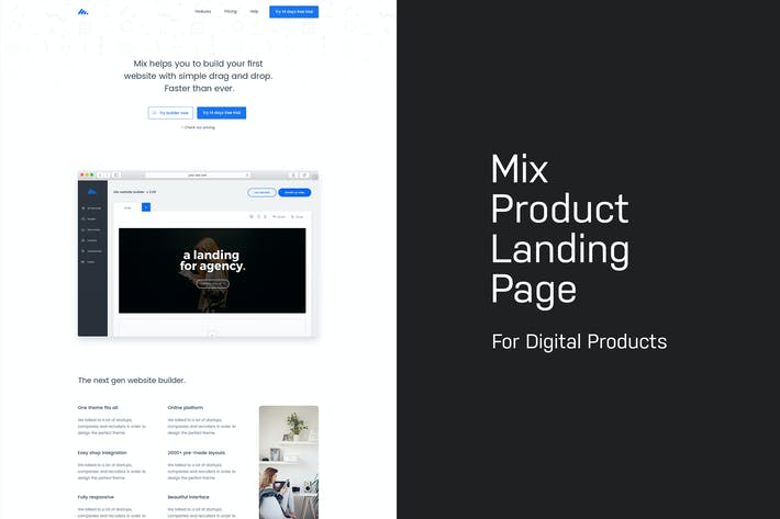 Thumbnail for Mix - Product Landing Page