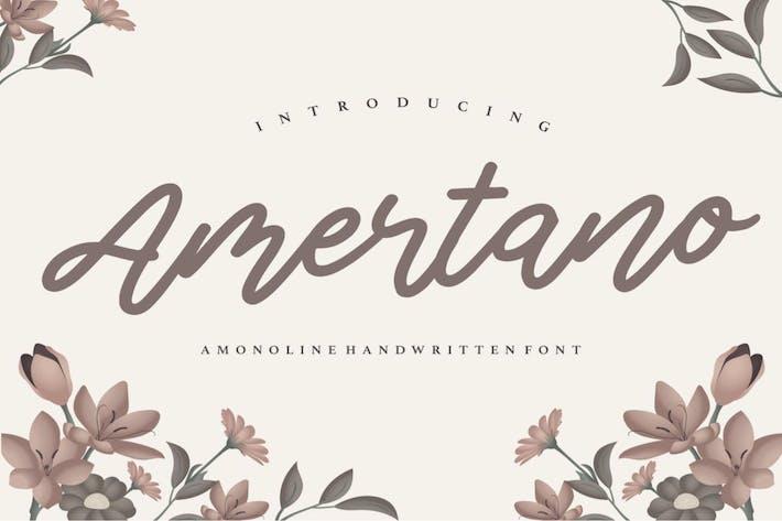Thumbnail for Amertano Fuente manuscrita YH