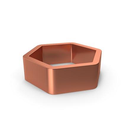 Metal Hexagon Bronze