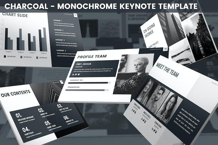 Thumbnail for Charcoal - Monochrome Keynote Template