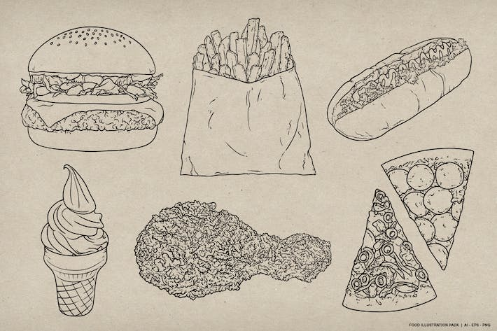 Thumbnail for Food Pack Illustration