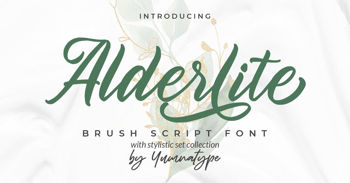 Download Alderlite-Brush Font by YumnaStudio