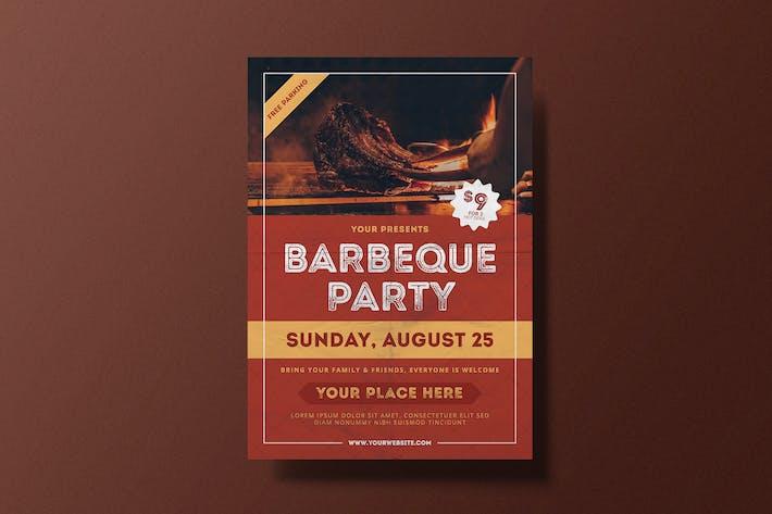 Thumbnail for Flyer de fête pour barbecue
