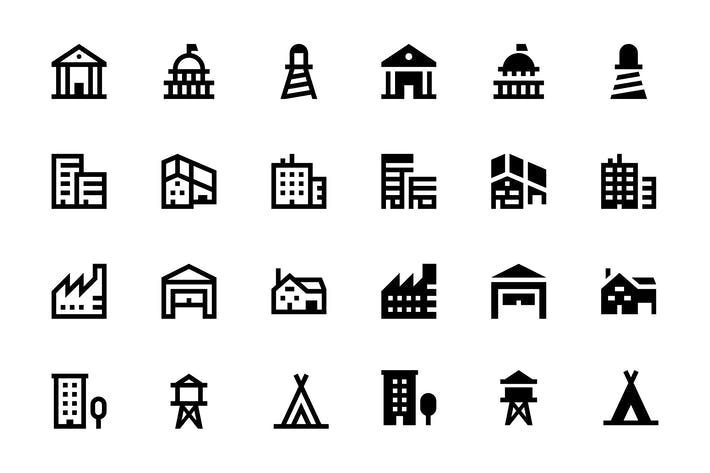 Thumbnail for 56 Gebäude Icons