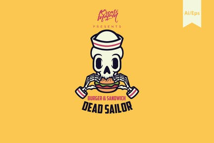 Dead Sailor Logo Template