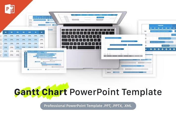 Thumbnail for Gantt Chart PowerPoint Template