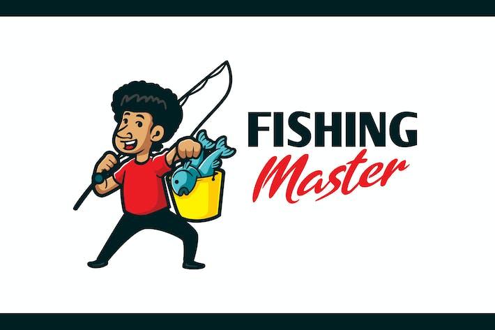 Thumbnail for Cartoon Happy Angler Character Mascot Logo