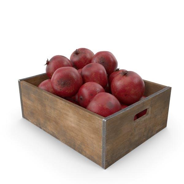 Granatapfel-Frucht-Kiste