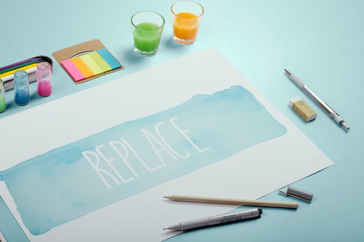 Thumbnail for Watercolor Paint Mockup Template #7
