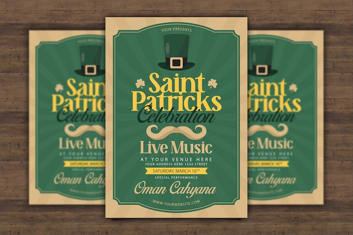 Thumbnail for Saint Patricks Celebration Flyer