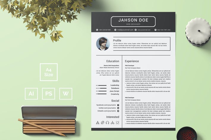 Thumbnail for Resume Template 29