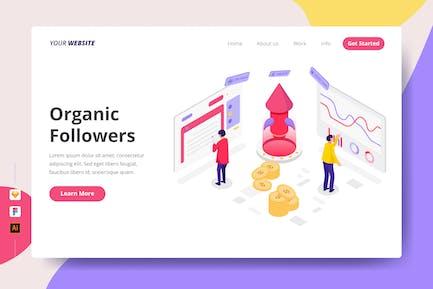 Organic Followers - Landing Page
