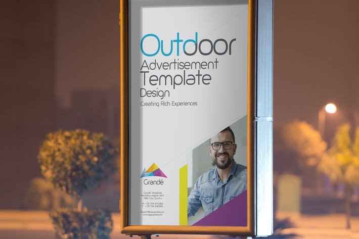 Thumbnail for Roadside Billboard Design Template
