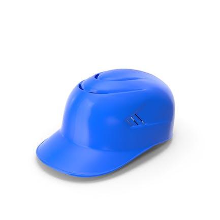 Casco de béisbol con acolchado azul