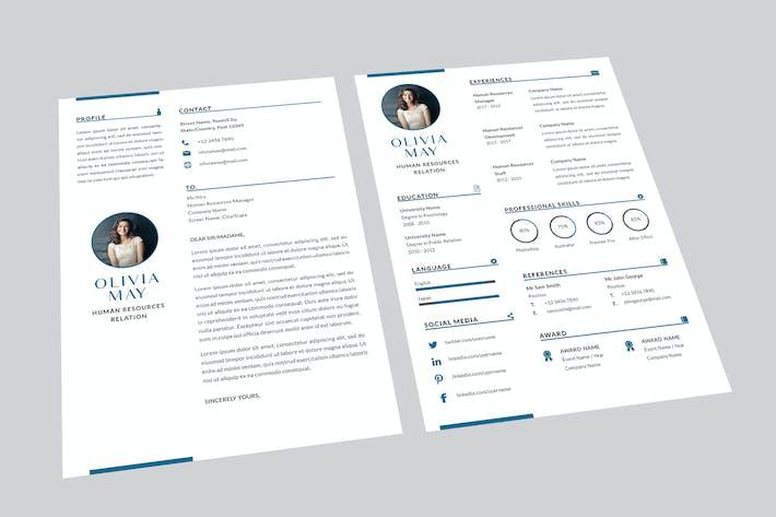 Thumbnail for Human Resources Resume Designer