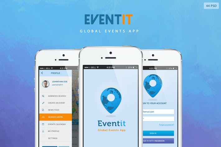 Thumbnail for Eventit - Mobile Application UI