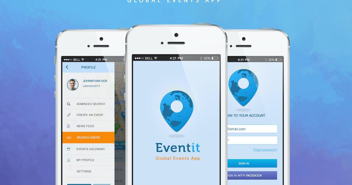 Download Eventit - Mobile Application UI by KL-Webmedia