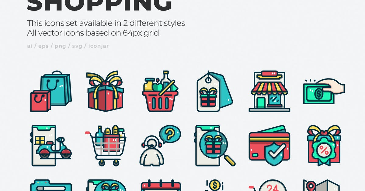 Download 30 Shopping Icons by Justicon
