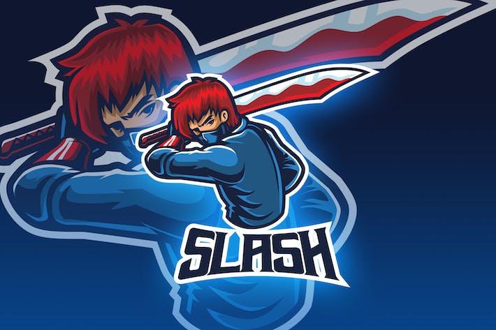 Thumbnail for Assassin With Big Sword Esport Logo