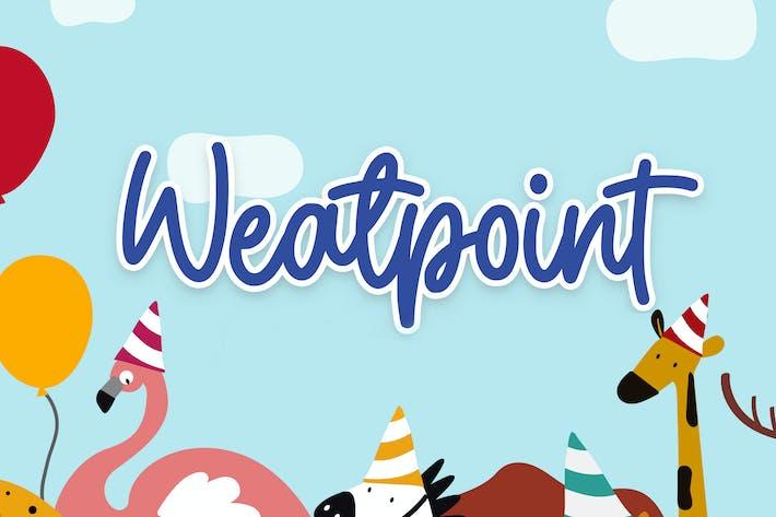 Thumbnail for Weatpoint - Fuente de escritura juguetona
