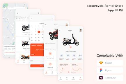 Motorcycle Rental Store App UI Kit