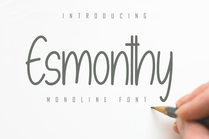 Thumbnail for Esmonthy - Monoline Font