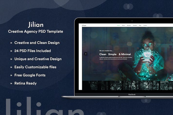 Thumbnail for Jilian - Creative Agency PSD Template