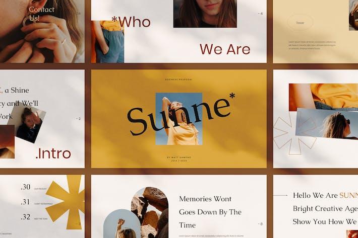 Thumbnail for Sunne - Творческий Шаблон Powerpoint