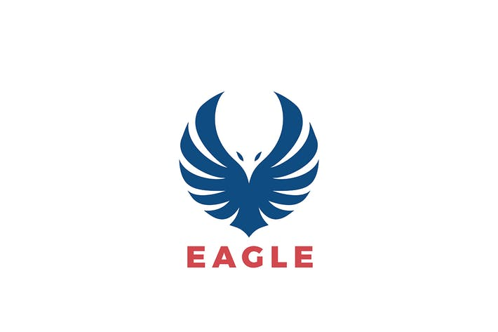 Thumbnail for Logo Eagle Wings Flying Soaring Silhouette