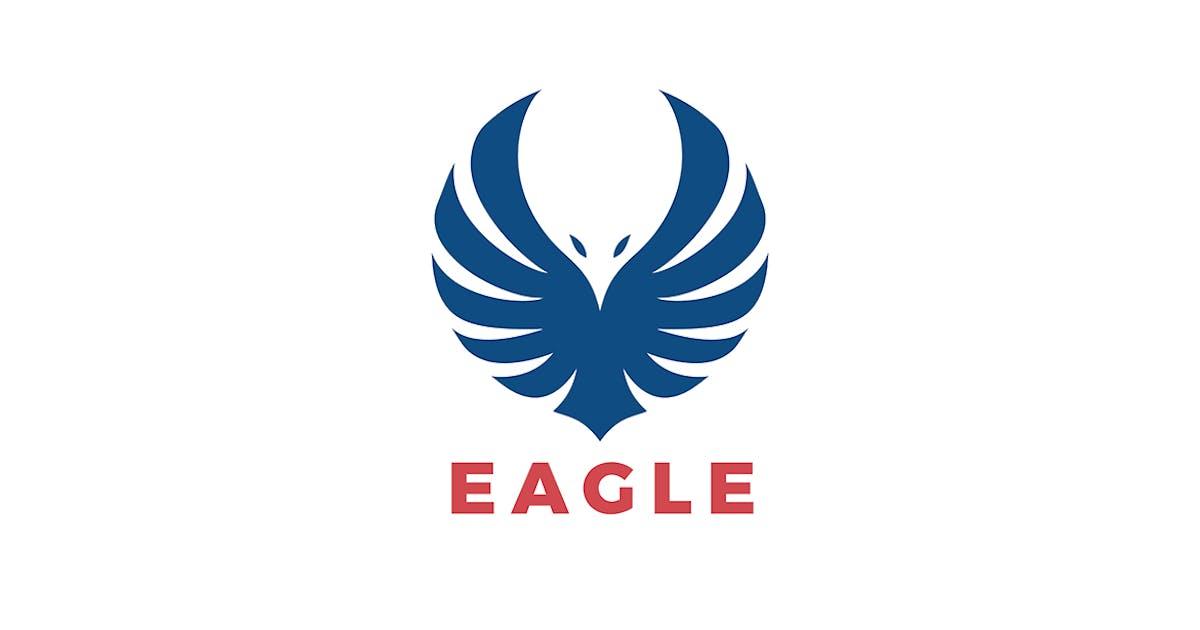 Download Logo Eagle Wings Flying Soaring Silhouette by Sentavio