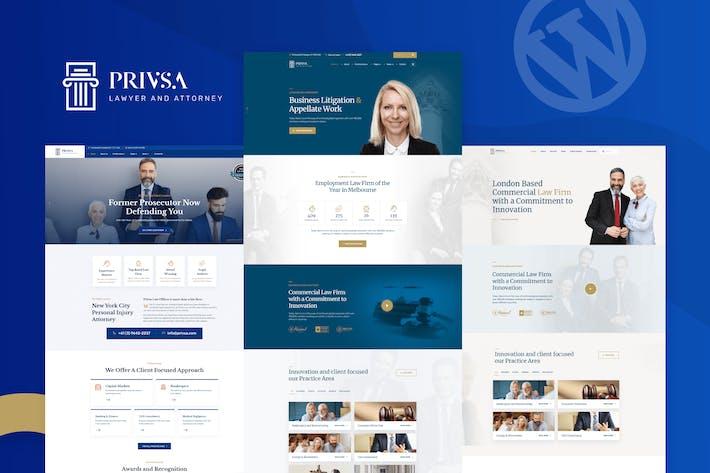 Privsa - Anwalt und Anwalt WordPress Thema