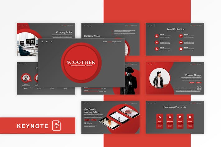 Thumbnail for Scoother - Multipurpose Keynote Template