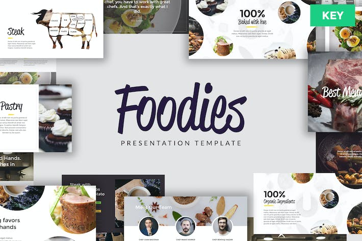 Thumbnail for FOODIES - Culinary Keynote Template