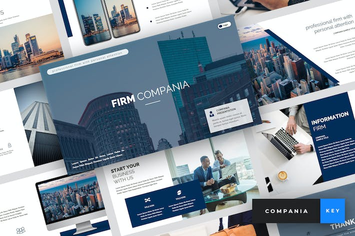 Thumbnail for Compania - Firm Keynote Template