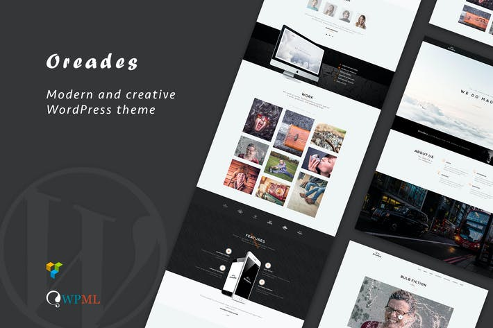Thumbnail for Oreades - Creative One-Page WordPress Theme