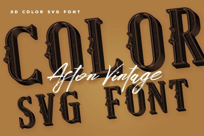 Aston Vintage Color Font
