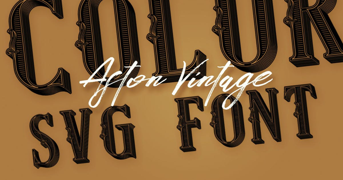 Download Aston Vintage Color Font by cruzine