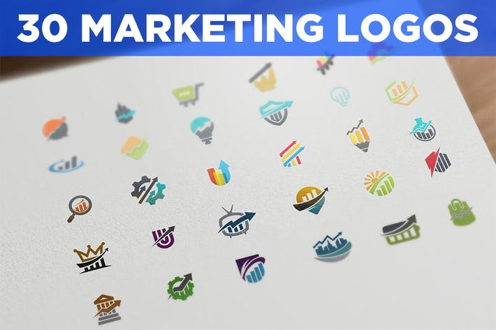 Thumbnail for 30 Marketing and SEO Logos