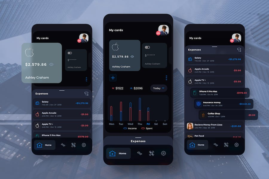 Damofy Finance Management Mobile UI - TH