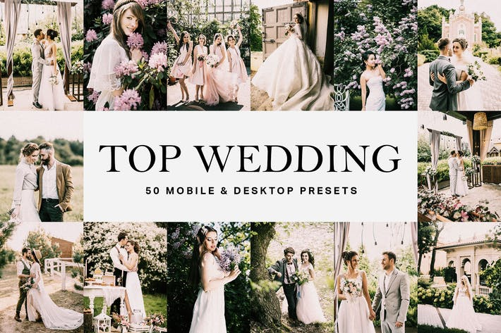 Thumbnail for 50 Top Wedding Lightroom Presets and LUTs