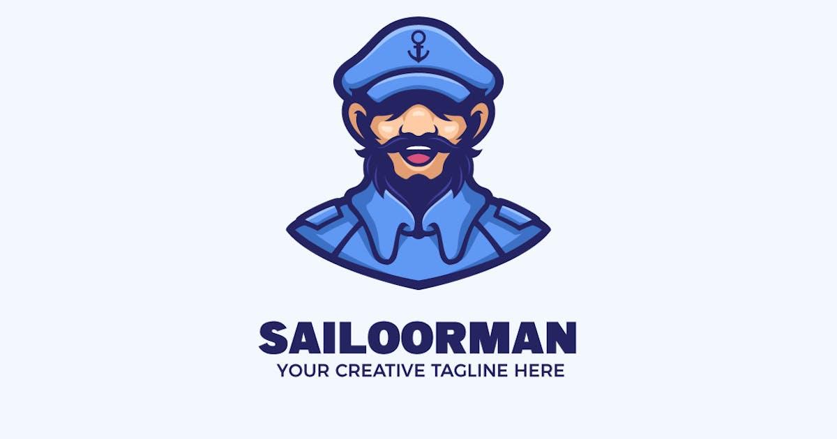 Download The Sailor Man Nautical Cartoon Mascot Logo by MightyFire_STD