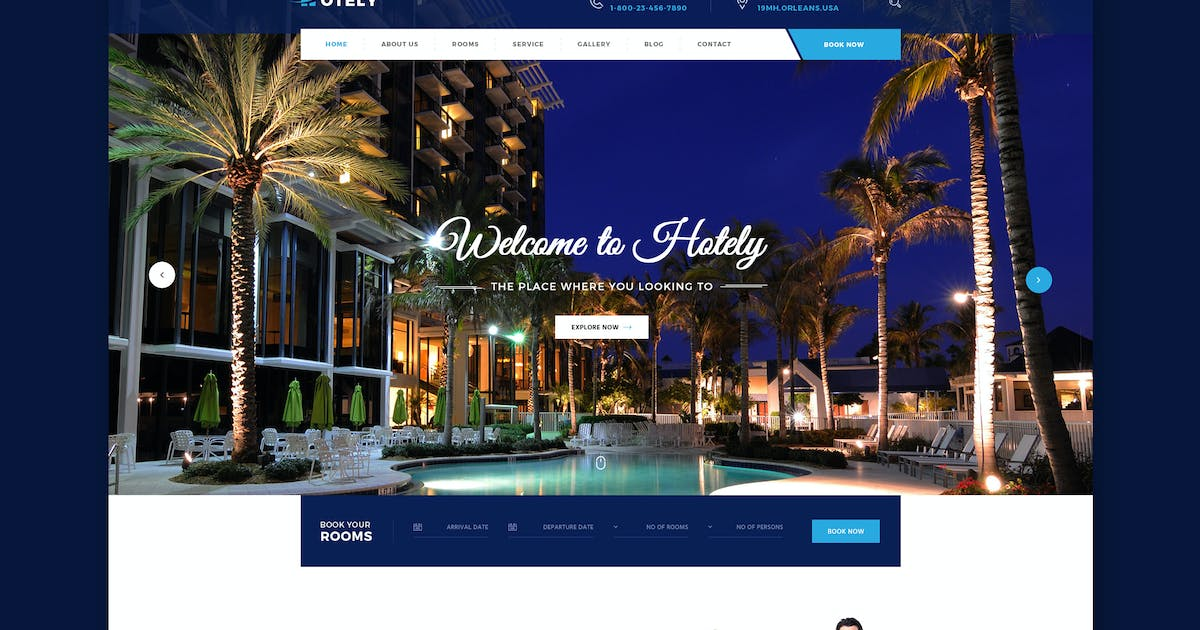 Download Hotely - Hotel Booking & Travel HTML Template by WPmines