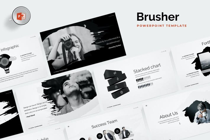 Thumbnail for Brusher Powerpoint Template