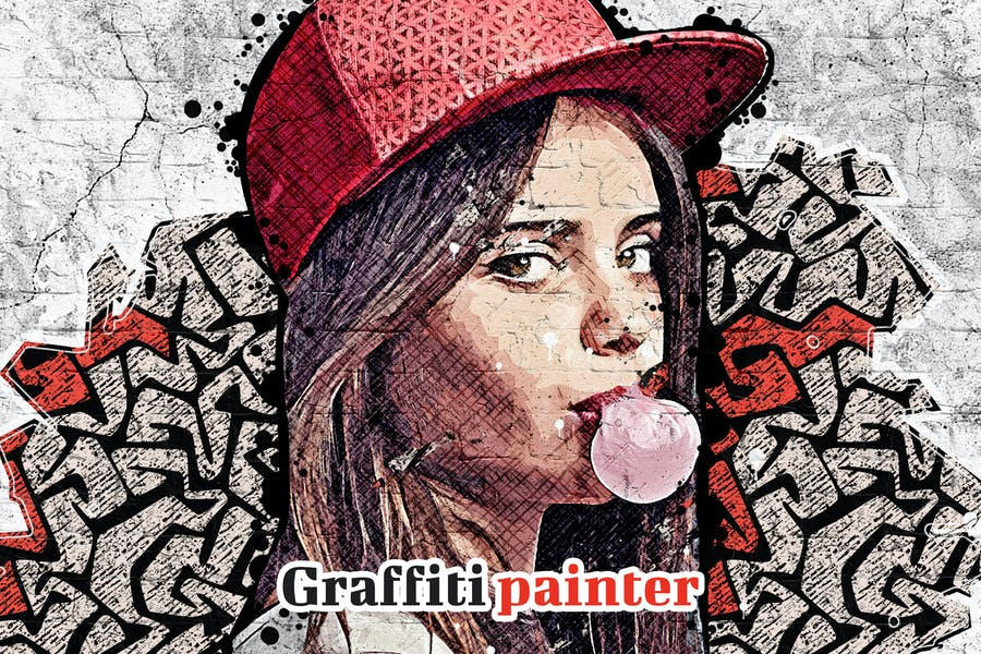 Graffiti Painter Photoshop Action