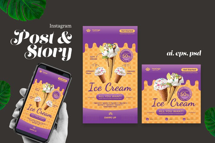 Thumbnail for Ice Cream Instagram Story Post