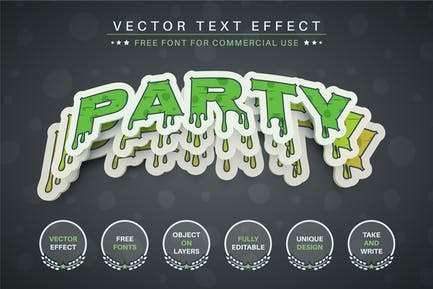 Halloween sticker editable text effect, font style