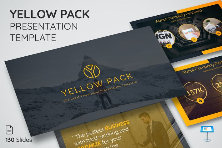 Thumbnail for Yellow Pack - Шаблон презентации Keynote