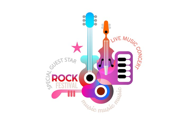 Thumbnail for Rock Music Festival vector poster design