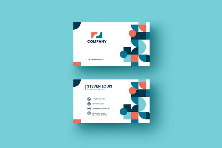Thumbnail for Bussiness Card Geometric Template